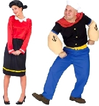 Fun couples halloween costumes popeye and olive oyl solutioingenieria Image collections