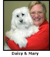 Daisy and her owner, Mary