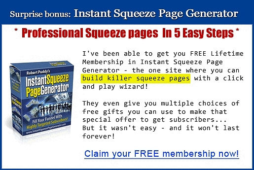 Instant Squeeze Page Generator